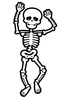 Cute-skeleton-coloring-pages